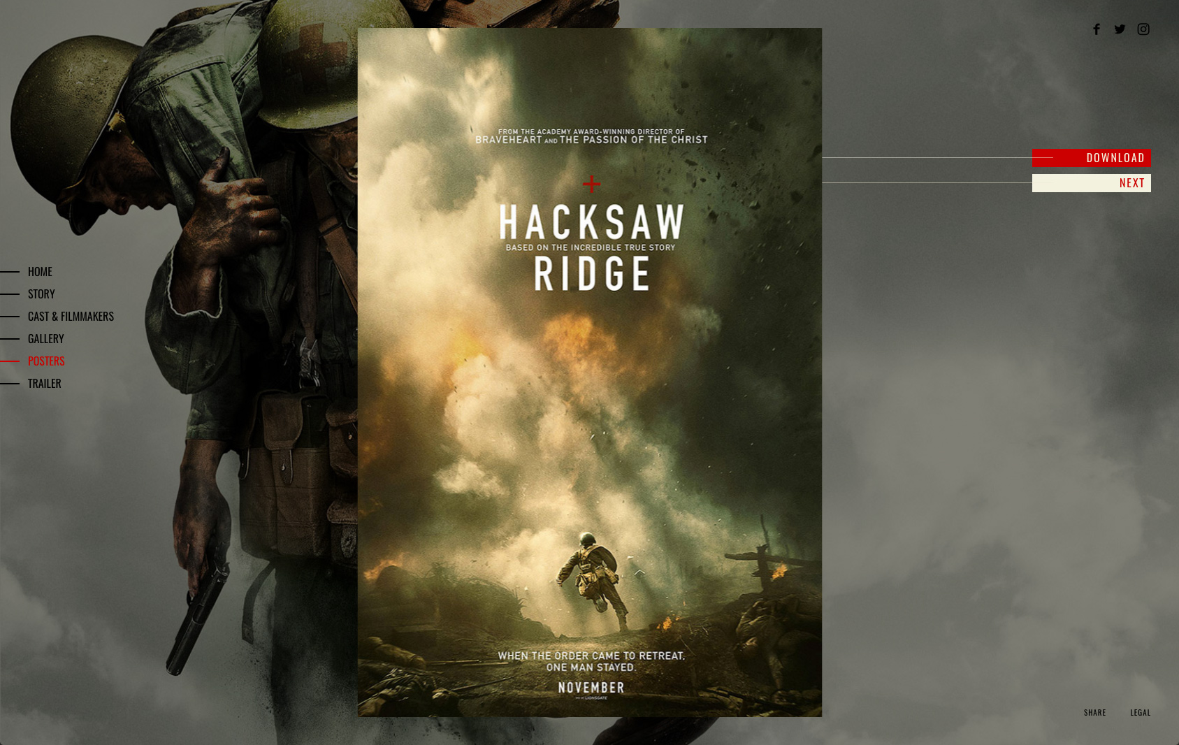Hacksaw Ridge – Rogue Creative Agency Andrew Garfield 2016